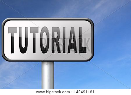 tutorial learn online video lesson or class, website education internet learning 3D illustration