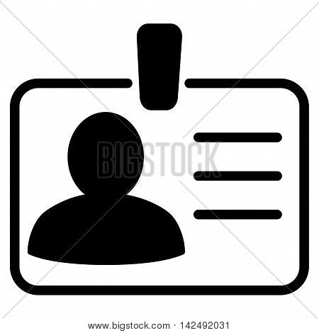 Personal Badge icon. Vector style is flat iconic symbol with rounded angles, black color, white background.