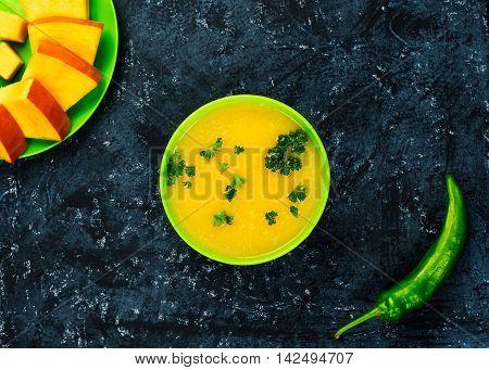 Pumpkin Soup Top View