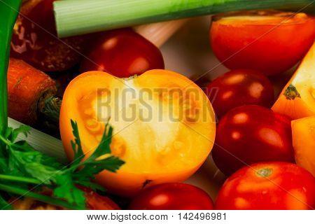 Closeup Of Vegetables