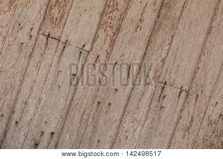 Wood texture Wooden background. The centuries-old  house wall.