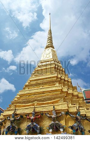 Stupa at Wat Phra Kaew in Bangkok.