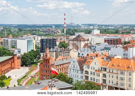 Poznan, Poland - June 28, 2016: View On Old Or Modern Buildings In Town Poznan