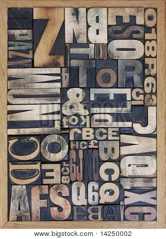 wooden letterpress blocks
