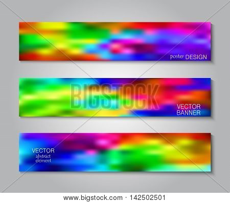 Blurred rainbow background. Layout book cover, flyers, brochures, posters.  Business print template. Set backgrounds for creative design.