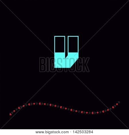 Letter V logo. Alphabet logotype vector design.