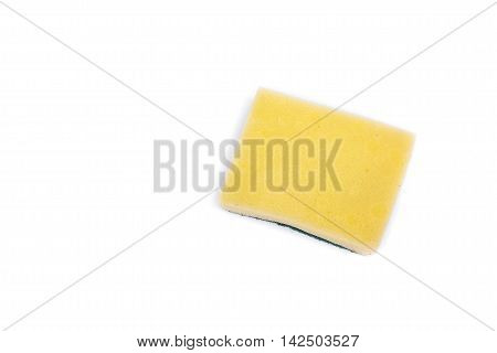 Dishwashing sponge. household sponge for cleaning on white background
