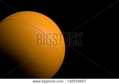 Ping Pong Ball On Black Background, 3D Rendering