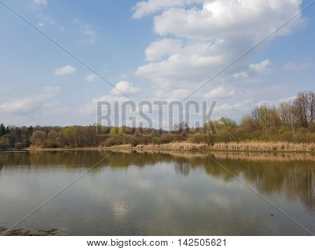 The magnificent landscape on the lake. Turtle