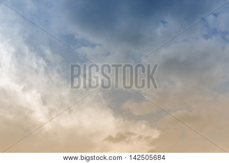 blue sky background with cloud in nature episode sunset  beautiful