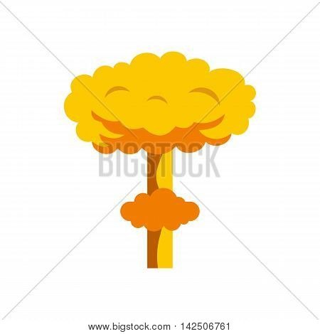 Explosion icon in flat style isolated on white background. Bomb symbol