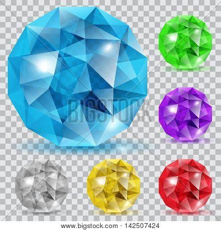 Set Of Translucent Gems