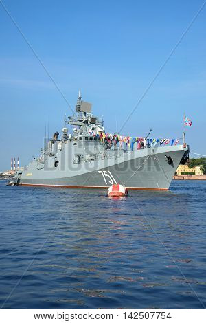 ST. PETERSBURG, RUSSIA - JULY 28, 2016: Patrol ship