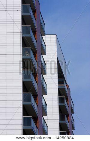 Cropped architectural apartment corner
