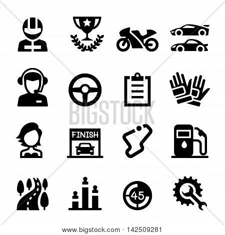 Racing icon set  Vector illustration Graphic design