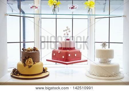 Window Display In Cake Decorating Shop