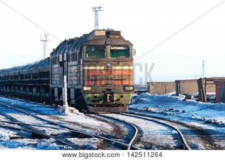 The Diesel Locomotive Is A Freight Train.