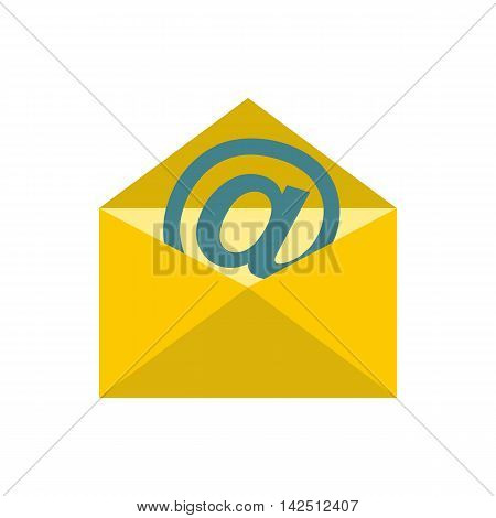 E-mail icon in flat style isolated on white background. Message symbol