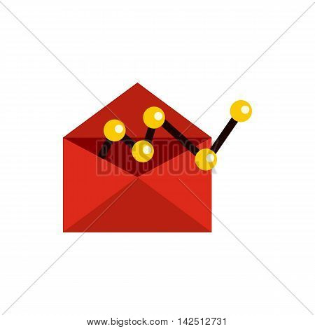 E-mail configuration icon in flat style isolated on white background. Message symbol