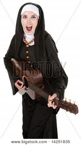 Nun Plays Guitar
