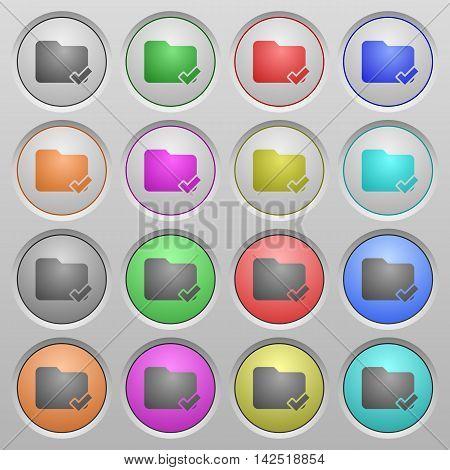 Set of Folder ok plastic sunk spherical buttons.