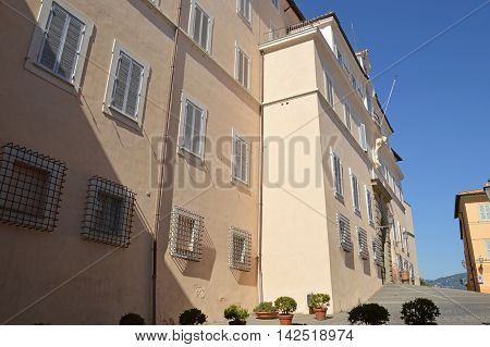 The Apostolic Palace of Castel Gandolfo seat of the Pope's holidays - Lazio