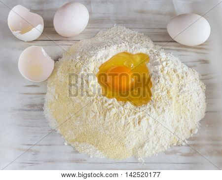 Ingredients For The Dough - Eggs And Flour
