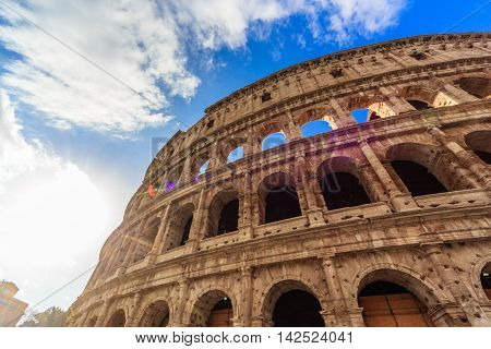 ROME - January 12: Rome. Beautiful sights of Rome. January 12 2016 in Rome Italy.