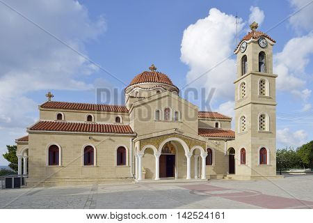 St Raphael Church Chrysohou Bay Cyprus Holy Church of Saints Rafil Nikolaos and Eirini Inaugurated 3rd May 1992
