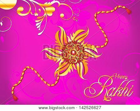 abstract artistic raksha bandhan rakhi vector illustration