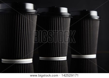 Black Takeaway Coffee Cup Mockups