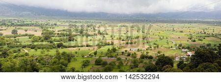 Panoramic landscape of Lassithi plateau, Crete, Greece