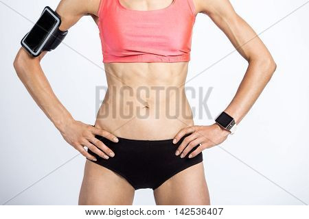 Close-up Of Beautiful Sporty Female Body