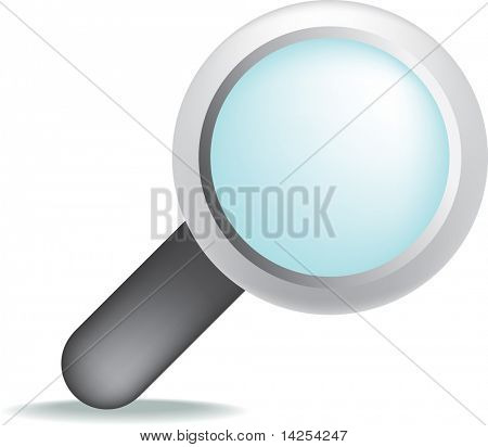 illustration of a magnifying glass with gradient mesh