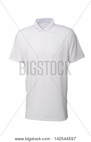 Golf white tee shirt for man or woman isolated on white background