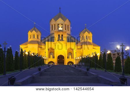 Cathedral dedicated to St Gregory the Illuminator in Yerevan, Armenia.