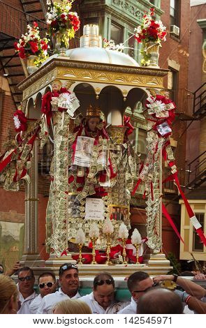 Feast In Honor Of Saint Agrippina In Boston, Usa