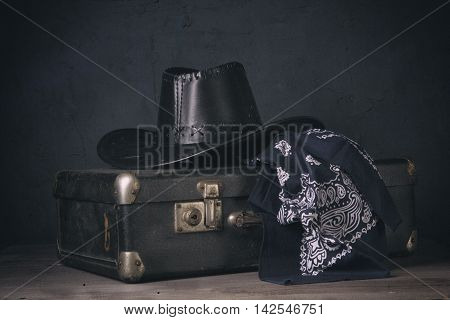 Still Life With A Suitcase And Hat