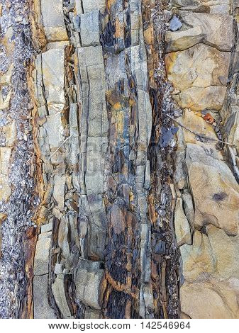 The texture of shale rock. Gray rocks, natural coloring.