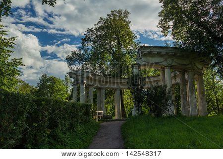 Colonnade of Apollo in Pavlovsk Park, St. Petersburg ,Russia