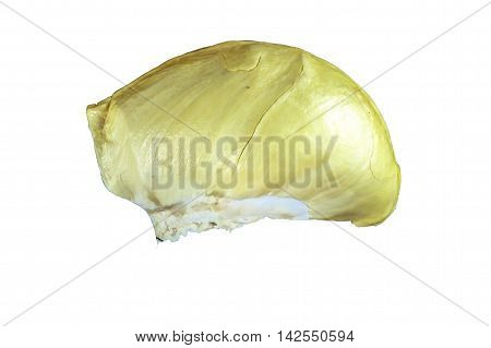 King of fruits durian on a white background with clipping path.
