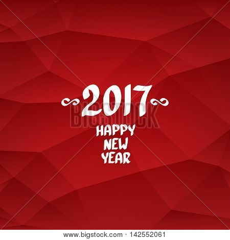 2017 Happy new year creative design background. Happy new year calligraphic text