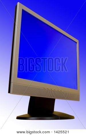 Tft Display With Blue Background