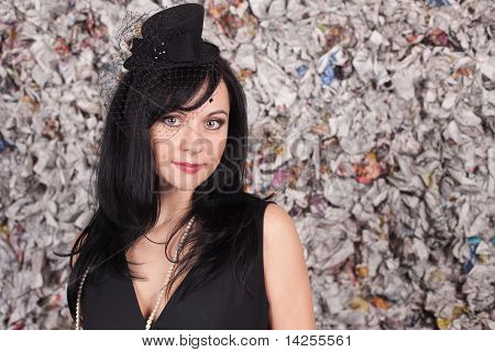 Beautiful Lady In Black Hat