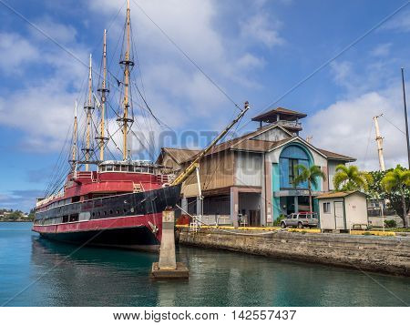 HONOLULU, HI - AUG 6: The Hawaii Maritime Center on August 6, 2016 in Honolulu, Hawaii. It was closed to the public effective May 1, 2009. Its future status is currently unknown.