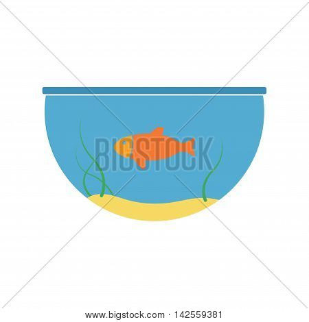 Aquarium and fish vector icon. Concept illustration for design.