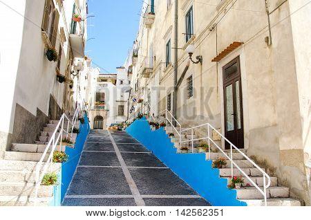 rodi garganico historic village mediterranean architecture blue steps
