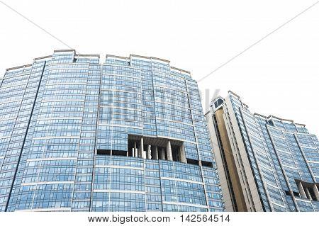 Detail of an high Hong Kong skyscraper