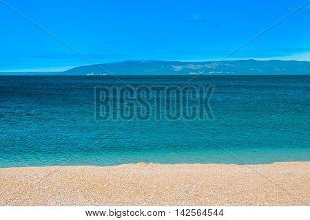 Cres Island in Croatia, seascape, sunny summer day