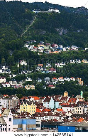 Scenery Of A Port City In Norway, Bergen